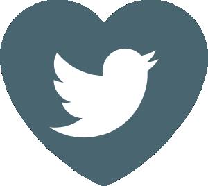 Logotipo Twitter para Horóscopos del Amor